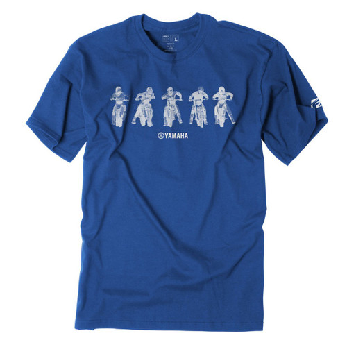 Factory Effex Kid's Tee Shirt - Yamaha Lineup - Royal Blue