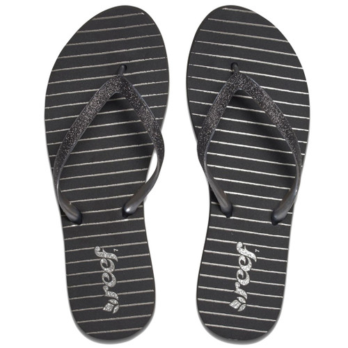 Reef Women's Flip Flop - Stargazer Prints - Black Stripes