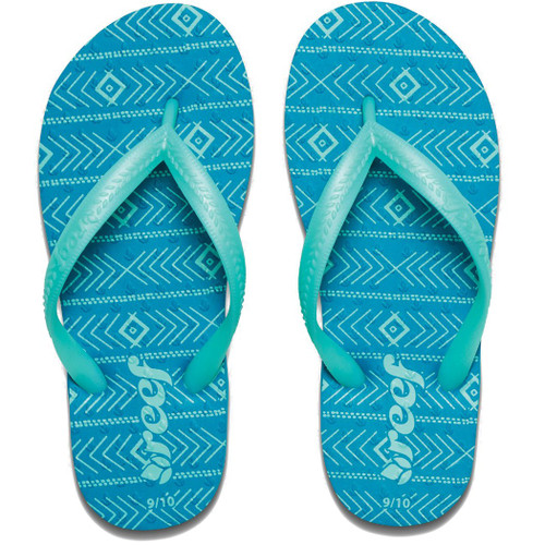 Reef Kid's Flip Flop - Little Chakras Print - Mint