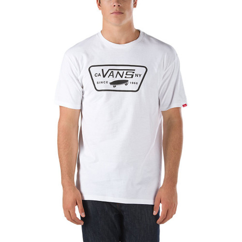 Vans Tee Shirt - Full Patch - White/Black