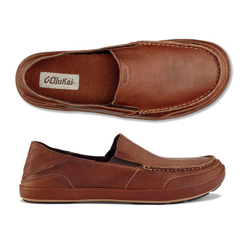 Olukai Shoes - Puhalu Leather - Toffee/Toffee