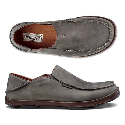 Olukai Shoes - Moloa Loafer - Storm Grey/Dark Wood