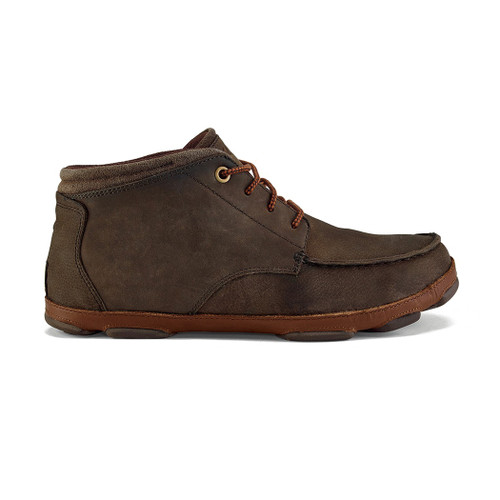Olukai Shoes - Hamakua Chukka Boot - Dark Wood/Toffee
