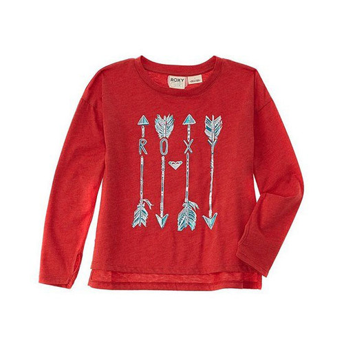 Roxy Kid's Tee Shirt - Feathertail - Ribbon Red