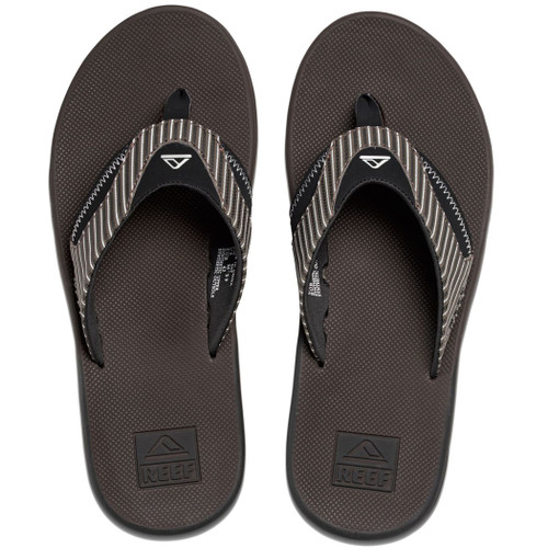 Reef Flip Flop - Fanning Prints - Brown Pinstripe