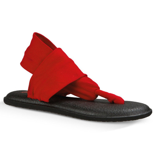 07d4e3043035 Sanuk Women s Flip Flop - Yoga Sling 2 - Bright Red
