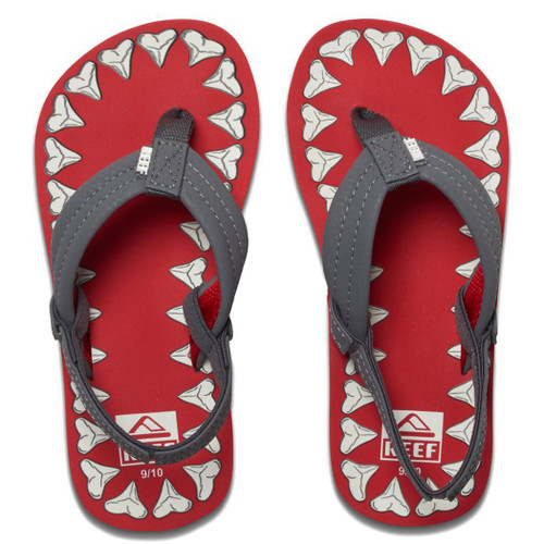 Reef Kid's Flip Flop - Ahi Glow - Red Shark