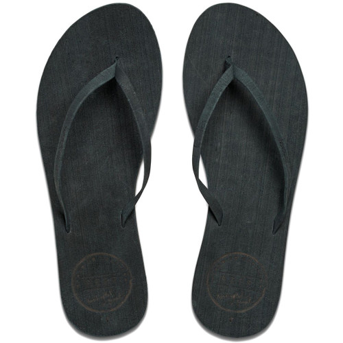 Reef Women's Flip Flop - Leather Uptown - Noir
