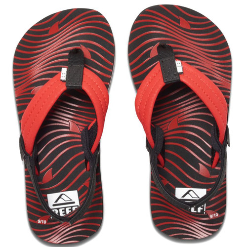 Reef Kid's Flip Flop - Ahi - Red Shark