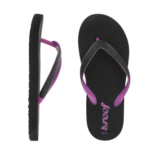 Reef Girl's Flip Flop - Little Stargazer - Black/Pink