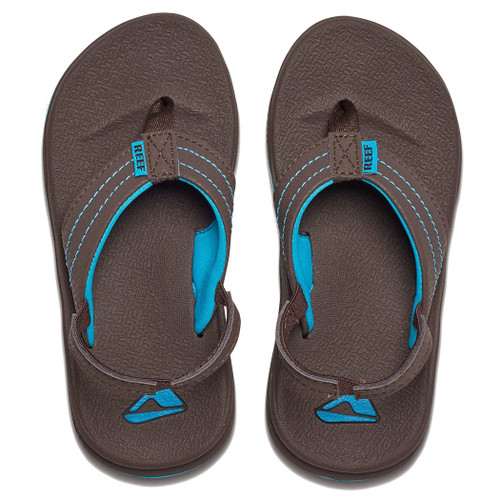 Reef Kid's Flip Flop - Grom Phantom - Brown/Blue