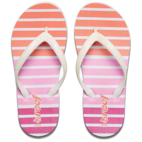 Reef Little Girl's Flip Flop - Little Stargazer Print - Coral