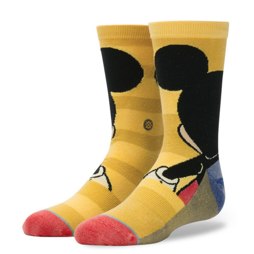 Stance Boy's Disney Socks - Mickey Mouse - Yellow