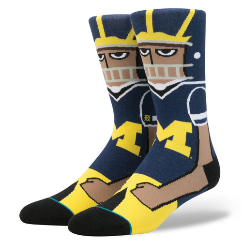 Stance Socks - U Of M Player - Maize - University Of Michigan