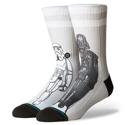 Stance Socks - Master Of Evil - Grey