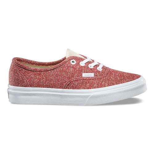 Vans Womens Shoes - Authentic J and S - Tibetan Red/True White