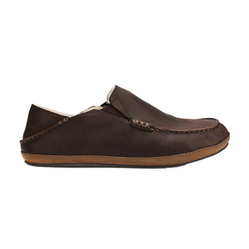 Olukai Shoes - Moloa Slipper - Dark Wood/Dark Wood