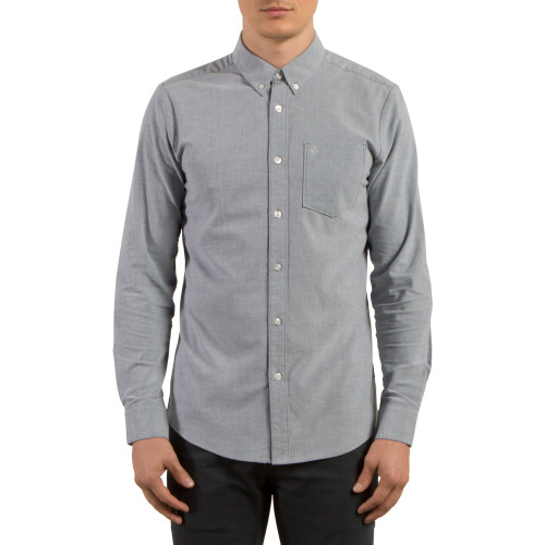 Volcom Shirt - Oxford Stretch LS - Smokey Blue