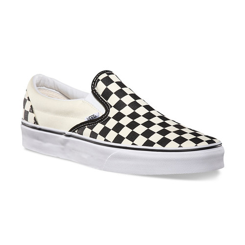 Vans Shoes - Classic Slip-On - Black/White Checkerboard