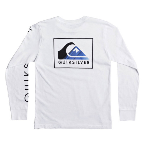 Quiksilver Boy's Shirt - Hold Down LS - White