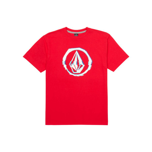 Volcom Boy's Tee Shirt - Glitchy - True Red