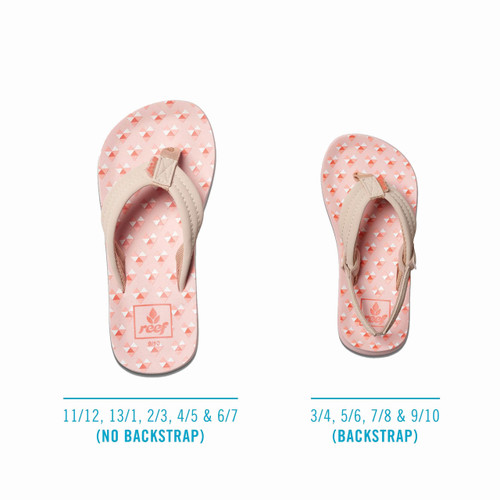 Reef Girl's Flip Flop - Little Ahi - Digital Hearts