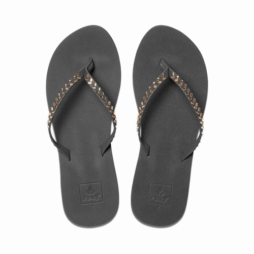 Reef Women's Flip Flops - Bliss Embellish - Black/Bronze