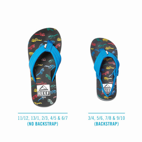 Reef Kid's Flip Flop - Ahi - Blue Sunglasses