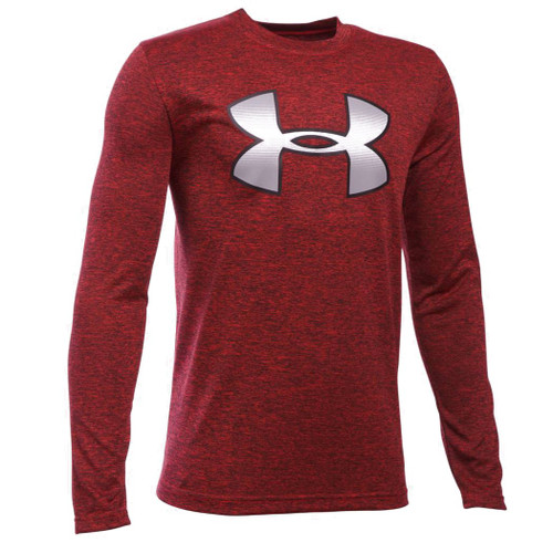 Under Armour Kid's Tee Shirt - Big Logo Youth - Red/Black/White