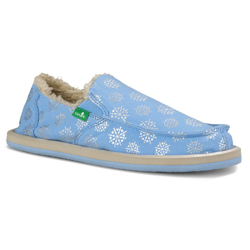 Sanuk Kid's Shoes - Donna Lil Icon Chill Kids - Ice/Silver Snowflake