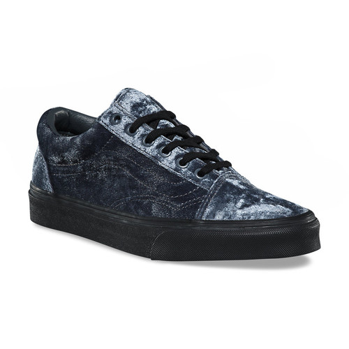 Vans Women's Shoes - Old Skool Velvet - Grey Velvet