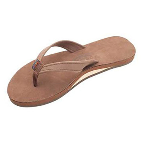 Rainbow Women's Flip Flop - Catalina Single Layer - Expresso Leather