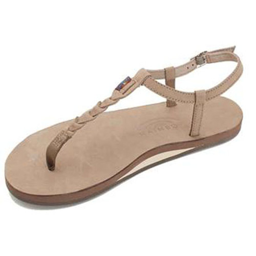 Rainbow Women's Flip Flop - T-Street Single Layer - Dark Brown