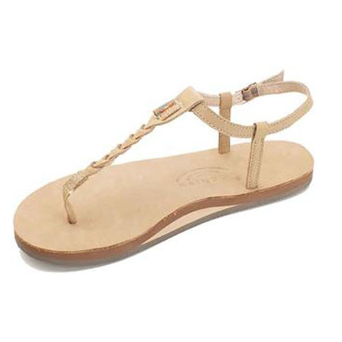Rainbow Women's Flip Flop - T-Street Single Layer - Sierra Brown