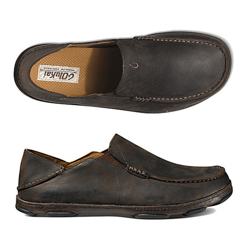 Olukai Shoes - Moloa Loafer - Dark Wood/Java