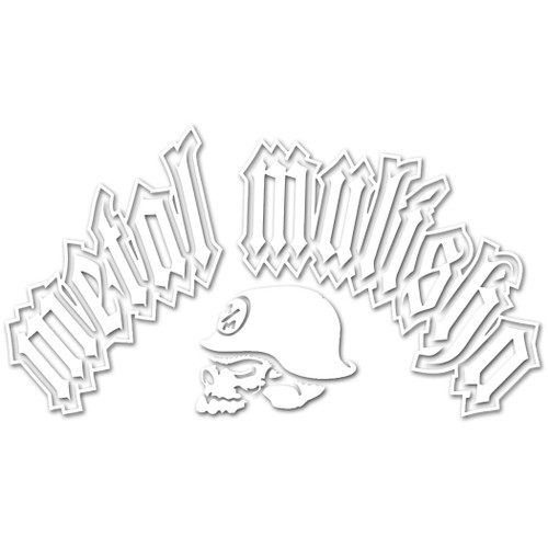 Metal Mulisha Sticker - ARC 8 - White
