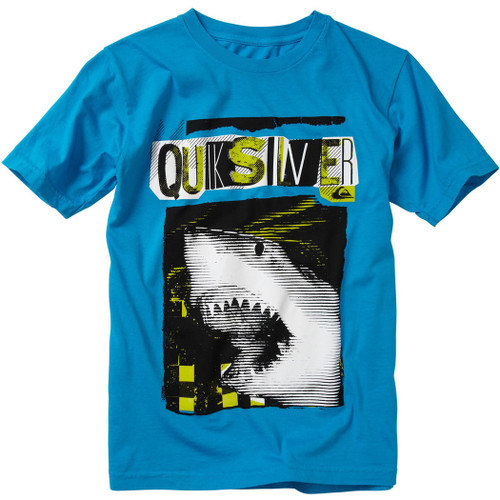 Quiksilver Youth Tee Shirt - Bitten - Blue