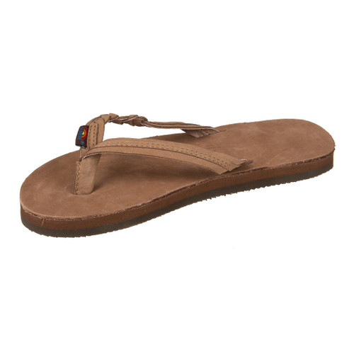 98e4dde887b6 Rainbow Women s Flip Flop - Flirty Braidy - Brown