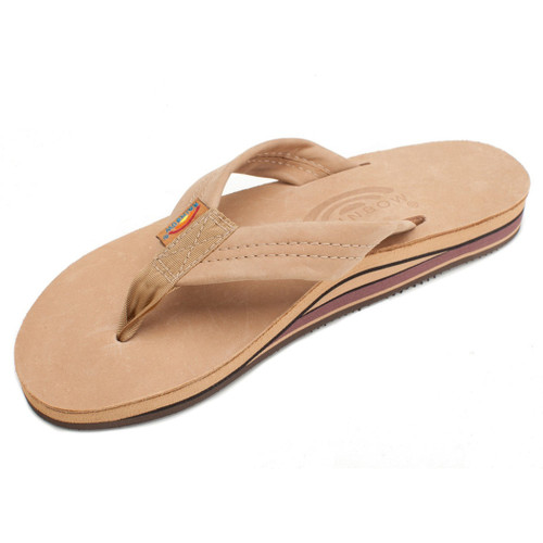 e42f0964ce4c Rainbow Flip Flops - Premier Leather - Brown