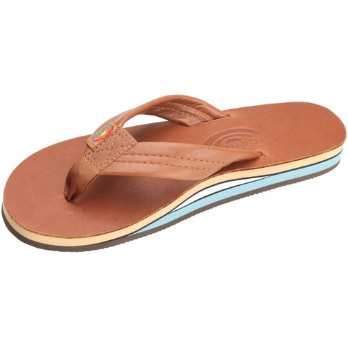 Rainbow Women's Flip Flop - Premier Wide Strap - Tan