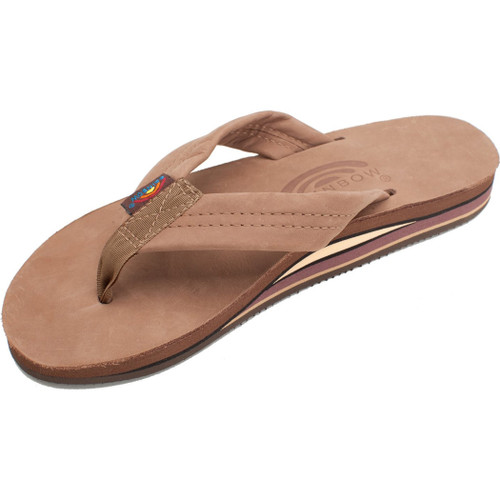Rainbow Women's Flip Flop - Premier Wide Strap - Chocolate