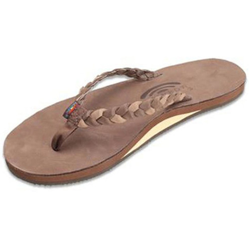 Rainbow Women's Flip Flop - Twisted Sister - Espresso Brown