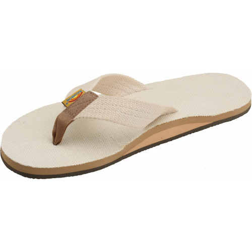 Rainbow Women's Flip Flop - Hemp Top - Natural