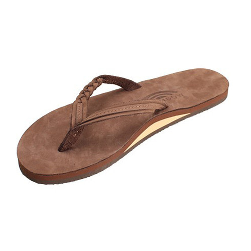 Rainbow Women's Flip Flop - Flirty Braidy Flops - Espresso Brown