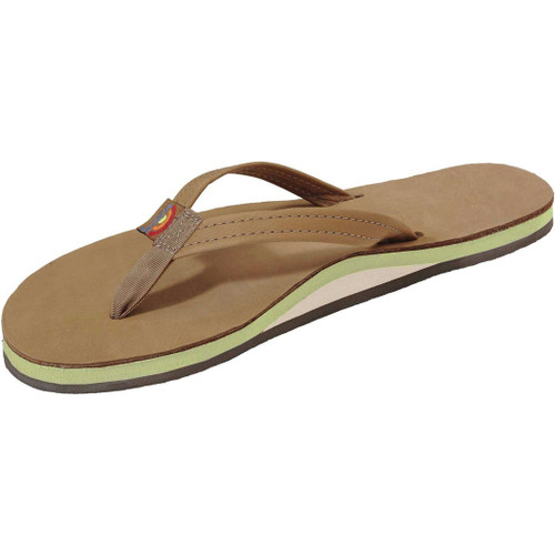 Rainbow Women's Flip Flop - Sierra Single Arched - Lime