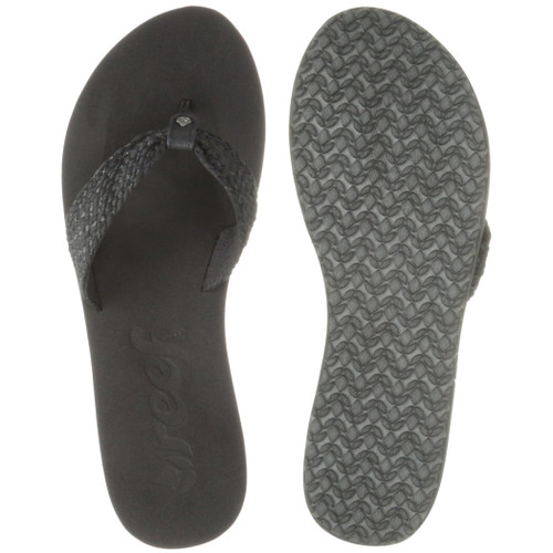 Reef Women's Flip Flop - Mallory Scrunch - Black