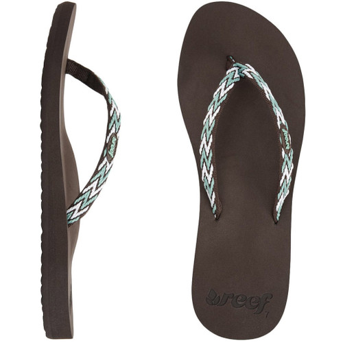 Reef Women's Flip Flop - Ginger Drift - Brown/Aqua/White