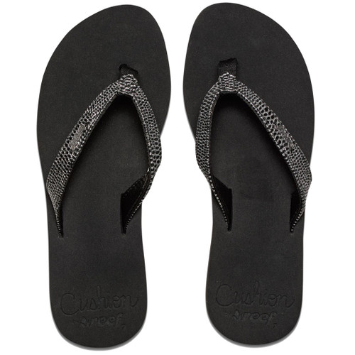 Reef Women's Flip Flop - Star Cushion Sassy - Black/Silver