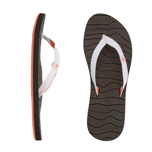 Reef Women's Flip Flop - Swells - Brown/White/Coral