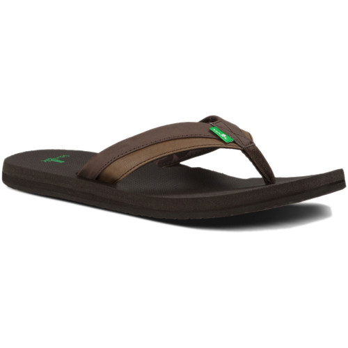 Sanuk Flip Flop - Beer Cozy Light - Dark Brown